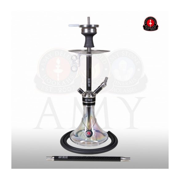 Amy Deluxe Carbonica Force R S vízipipa - Clear