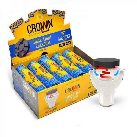 Carbopol Crown 40 mm-es vízipipa szén - 10 db/csomag
