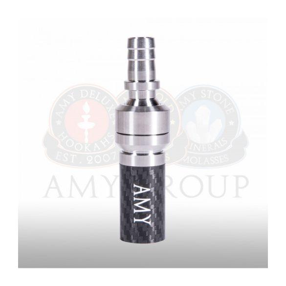 Amy Deluxe szívócső adapter rozsdamentes acél, gömbcsuklóval - Carbon